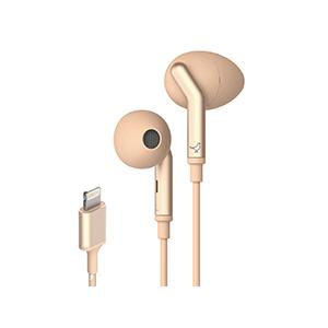 LI0030000AS6008 リブラトーン Lightningコネクタ専用ノイズキャンセリング機能搭載イヤホン(金) LIBRATONE Q ADAPT IN-EAR Elegant Nude
