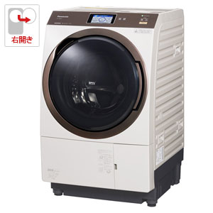 (標準設置料込)NA-VX9800R-N パナソニック 11.0kg ドラム式洗濯乾燥機【右開き】ノーブルシャンパン Panasonic エコナビ 温水泡洗浄