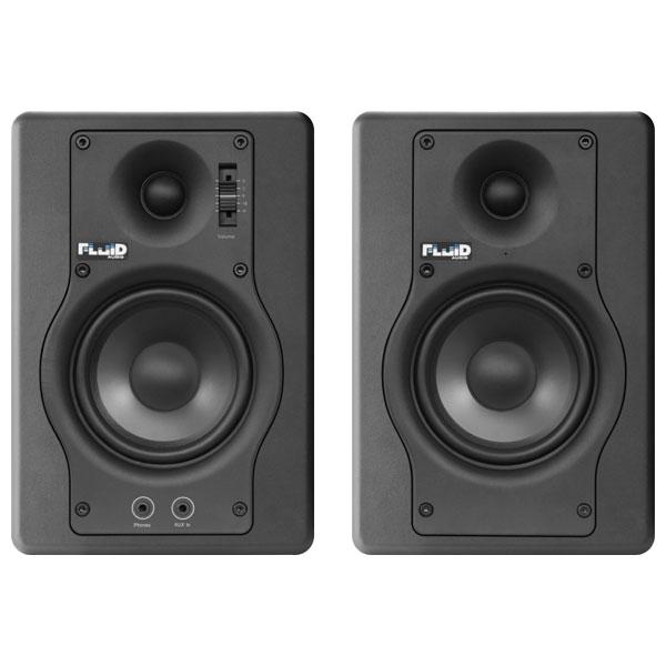 F4 フルイドオーディオ ブックシェルフ型モニタースピーカー(ブラック)【ペア】 FLUID AUDIO Fader Series