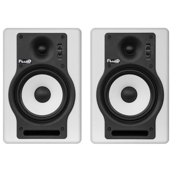 F5W フルイドオーディオ ブックシェルフ型モニタースピーカー(ホワイト)【ペア】 FLUID AUDIO Fader Series