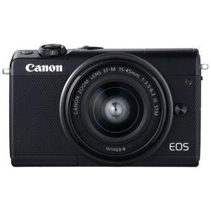 EOSM100BK-1545LK キヤノン ミラーレスカメラ「EOS M100」EF-M15-45 IS STMレンズキット(ブラック)