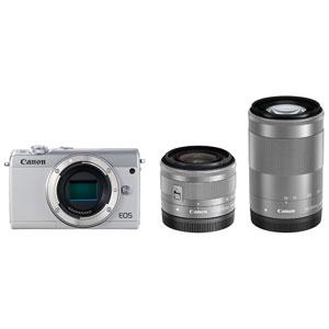 EOSM100WH-WZK キヤノン ミラーレスカメラ「EOS M100」ダブルズームキット(ホワイト)