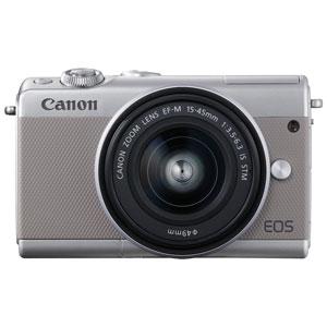 EOSM100GY-1545LK キヤノン ミラーレスカメラ「EOS M100」EF-M15-45 IS STMレンズキット(グレー)