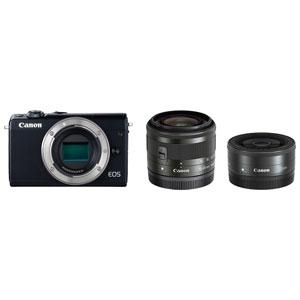 EOSM100BK-WLK キヤノン ミラーレスカメラ「EOS M100」ダブルレンズキット(ブラック)