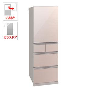 (標準設置料込)MR-B46C-F 三菱 455L 5ドア冷蔵庫(クリスタルフローラル)【右開き】 MITSUBISHI 置けるスマート大容量 Bシリーズ