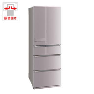 (標準設置料込)MR-JX52C-N 三菱 517L 6ドア冷蔵庫(ローズゴールド) MITSUBISHI 置けるスマート大容量 切れちゃう瞬冷凍