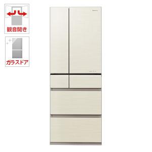 (標準設置料込)NR-F503XPV-N パナソニック 501L 6ドア冷蔵庫(シャンパンゴールド) Panasonic エコナビ
