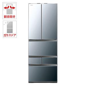 (標準設置料込)GR-M460FWX-X 東芝 462L 6ドア冷蔵庫(ダイヤモンドミラー) TOSHIBA VEGETA(べジータ)