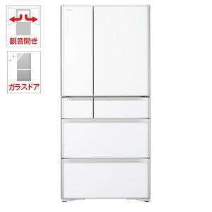 (標準設置料込)R-XG6700H-XW 日立 670L 6ドア冷蔵庫(クリスタルホワイト) HITACHI
