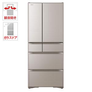 (標準設置料込)R-XG6200H-XN 日立 615L 6ドア冷蔵庫(クリスタルシャンパン) HITACHI