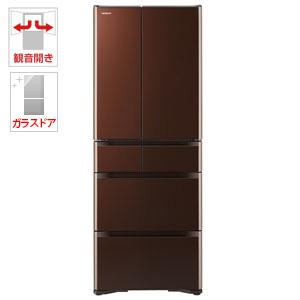 (標準設置料込)R-XG5100H-XT 日立 505L 6ドア冷蔵庫(クリスタルブラウン) HITACHI