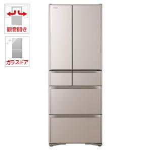 (標準設置料込)R-XG5100H-XN 日立 505L 6ドア冷蔵庫(クリスタルシャンパン) HITACHI