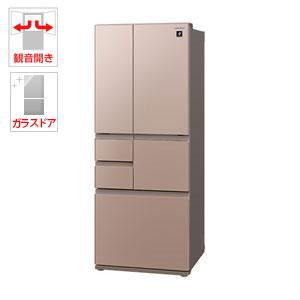(標準設置料込)SJ-GT47D-T シャープ 474L 6ドア冷蔵庫(メタリックブラウン) SHARP プラズマクラスター冷蔵庫