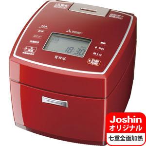 NJ-V10J6-R 三菱 IHジャー炊飯器(5.5合炊き) ルビーレッド MITSUBISHI NJ-VV108のJoshinオリジナルモデル