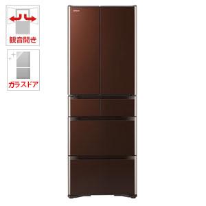 (標準設置料込)R-XG4300H-XT 日立 430L 6ドア冷蔵庫(クリスタルブラウン) HITACHI