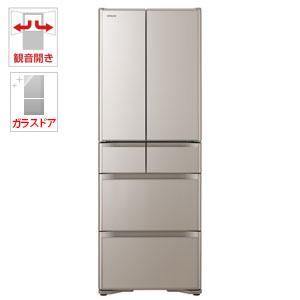 (標準設置料込)R-XG4300H-XN 日立 430L 6ドア冷蔵庫(クリスタルシャンパン) HITACHI