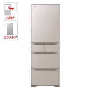 (標準設置料込)R-S5000H-XN 日立 501L 5ドア冷蔵庫(クリスタルシャンパン)【右開き】 HITACHI