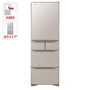 (標準設置料込)R-S4000H-XN 日立 401L 5ドア冷蔵庫(クリスタルシャンパン)【右開き】 HITACHI