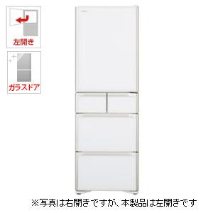 (標準設置料込)R-S4000HL-XW 日立 401L 5ドア冷蔵庫(クリスタルホワイト)【左開き】 HITACHI