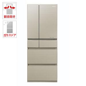 (標準設置料込)NR-F453HPX-N パナソニック 450L 6ドア冷蔵庫(マチュアゴールド) Panasonic エコナビ