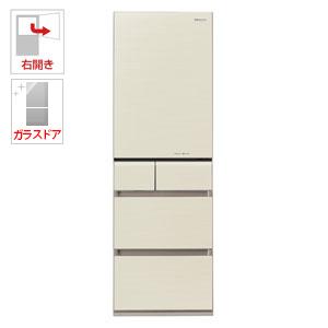 (標準設置料込)NR-E413PV-N パナソニック 406L 5ドア冷蔵庫(シャンパンゴールド)【右開き】 Panasonic エコナビ