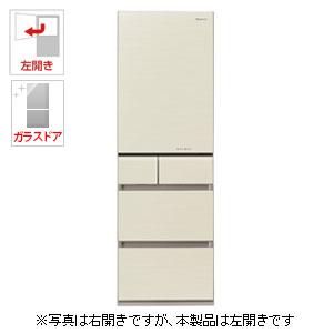 (標準設置料込)NR-E413PVL-N パナソニック 406L 5ドア冷蔵庫(シャンパンゴールド)【左開き】 Panasonic エコナビ