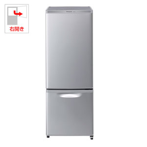 (標準設置料込)NR-B17AW-S パナソニック 168L 2ドア冷蔵庫(シルバー)【右開き】 Panasonic