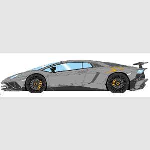 1/43 Lamborghini AventadorLP750-4 SV 2015 グリジオテレスト (ラージオレンジSVロゴ)【EM358D】 メイクアップ