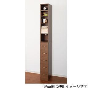 27056 クロシオ すきま収納タオルストッカー ブラウン (20cm幅) KUROSHIO タオルストッカー