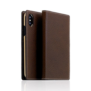 SD10515I8 SLG Design iPhone XS/X用 手帳型 MINERVA BOX LEATHER CASE(ブラウン):Joshin web 家電とPCの大型専門店