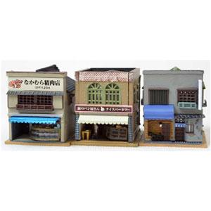 鉄道模型 新作製品 世界最高品質人気 トミーテック N 訳あり 建物コレクション131-2 肉屋 BAR寿司店2 パン屋