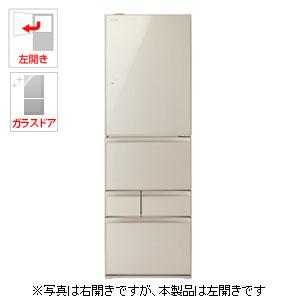 (標準設置料込)GR-M41GXVL-EC 東芝 411L 5ドア冷蔵庫(サテンゴールド)【左開き】 TOSHIBA VEGETA(ベジータ)