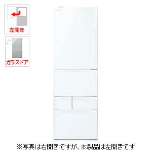 (標準設置料込)GR-M41GXVL-EW 東芝 411L 5ドア冷蔵庫(グランホワイト)【左開き】 TOSHIBA VEGETA(ベジータ)