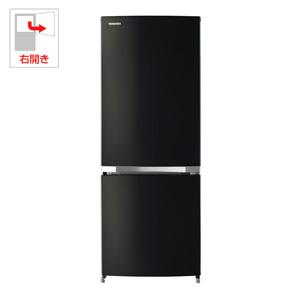 (標準設置料込)GR-M15BS-K 東芝 153L 2ドア冷蔵庫(ピュアブラック)【右開き】 TOSHIBA