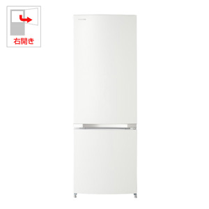 (標準設置料込)GR-M17BS-W 東芝 171L 2ドア冷蔵庫(シェルホワイト)【右開き】 TOSHIBA
