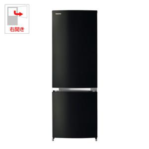 (標準設置料込)GR-M17BS-K 東芝 171L 2ドア冷蔵庫(ピュアブラック)【右開き】 TOSHIBA