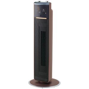 KHF-1270/T コイズミ DCモーター搭載 送風機能付ファンヒーター(リモコン付 ブラウン) 【送風・温風兼用】KOIZUMI ホット&クール プレミアムタワーファン