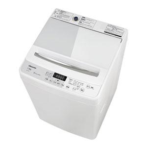 (標準設置料込)HW-G75A ハイセンス 7.5kg 全自動洗濯機 ホワイト/ホワイト Hisense