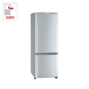 (標準設置料込)MR-P17C-S 三菱 168L 2ドア冷蔵庫(ピュアシルバー)【右開き】 MITSUBISHI