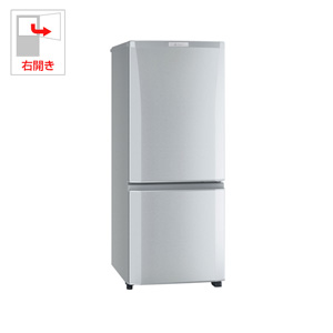 (標準設置料込)MR-P15C-S 三菱 146L 2ドア冷蔵庫(ピュアシルバー)【右開き】 MITSUBISHI
