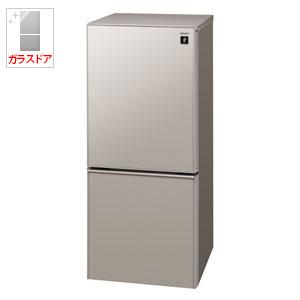 (標準設置料込)SJ-GD14D-C シャープ 137L 2ドア冷蔵庫(メタリックベージュ) SHARP つけかえどっちもドア