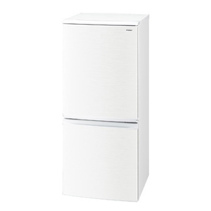 (標準設置料込)SJ-D14D-W シャープ 137L 2ドア冷蔵庫(ホワイト系) SHARP つけかえどっちもドア