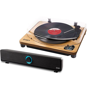 Air LP WD + Wireless Soundbar アイオン 《 レコードプレーヤー+ワイヤレスサウンドバーセット 》 ION Audio