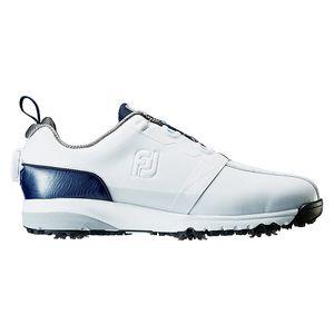 54141W245 フットジョイ メンズ・ゴルフシューズ (ホワイト+ネイビー・24.5cm) FJ ULTRA FIT #54141