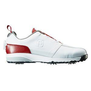 54143W245 フットジョイ メンズ・ゴルフシューズ (ホワイト+レッド・24.5cm) FJ ULTRA FIT #54143