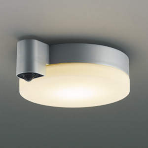 AU38466L コイズミ LED軒下用シーリングライト(ブライトシルバー)【要電気工事】 KOIZUMI