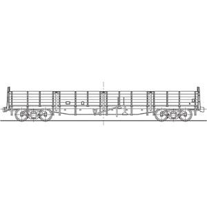 [鉄道模型]ワールド工芸 (HO) 16番 国鉄 トキ15000形 無蓋車 組立キット