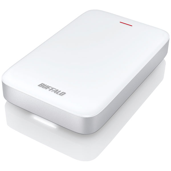 HD-PA2.0TU3-C バッファロー USB3.1(Gen1)/Thunderbolt接続 ポータブルハードディスク 2.0TB(ホワイト) HD-PATU3-Cシリーズ