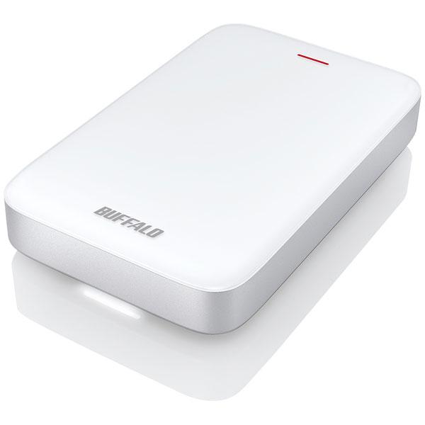 HD-PA1.0TU3-C バッファロー USB3.1(Gen1)/Thunderbolt接続 ポータブルハードディスク 1.0TB(ホワイト) HD-PATU3-Cシリーズ