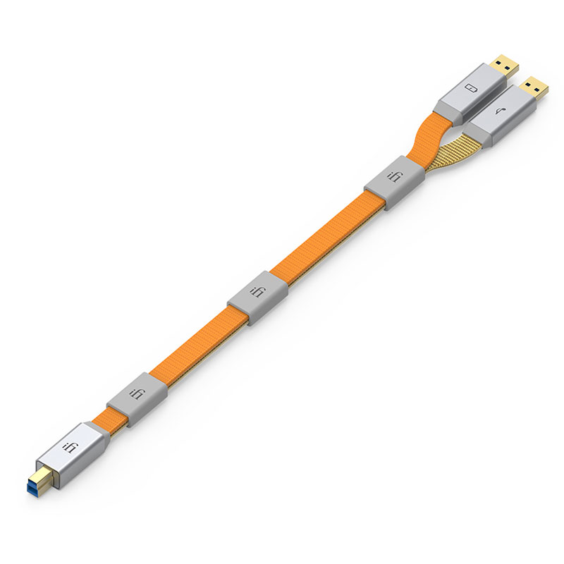 GEMINI3.0-1.5M-3.0 アイファイ・オーディオ オーディオグレードUSBケーブル(1.5m)【USB3.0 A端子×2 ⇔ USB3.0 B端子】 iFi-Audio
